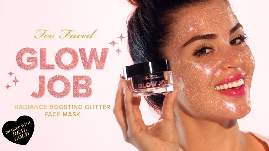 Beauty report too faced glow job glitter peel off mask getting give yourself a glow job with this revolutionary radiance boosting peel off glitter mask infused with real gold our illuminating smoothing mask is solutioingenieria